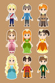 Prince and princess characters — Stock Vector
