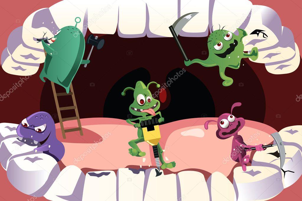 Как убивать бактерии на зубах