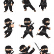 Stock Vector: Kid ninja