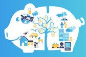 финансовое планирование — Cтоковый вектор