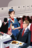 Flight attendant — Vecteur