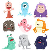 Cute monsters characters — Stock Vector