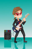 Kid rocker — Stock Vector
