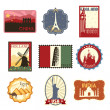 Travel labels or badges — Stock Vector #14097641