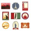 Travel labels or badges - Stock Vector
