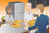 Servieren von speisen — Stockvektor