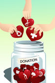 Making donation — Stock Vector