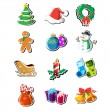 Christmas icons — Stock Vector #14495587