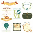 Stock Vector: Save the date tag