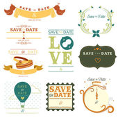 Save the date tag — Vector de stock