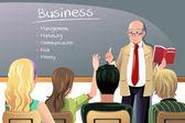 Business teacher — Stock Vector