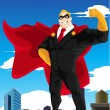 Superhero businessman - Stok Vektör