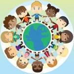 Children in unity — Stock Vector