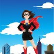 Superhero businesswoman - Stock Vector
