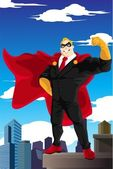 Superhero businessman — Stock Vector