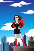 Superhero businesswoman — Stock Vector