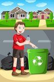 Recyclage kid — Vecteur