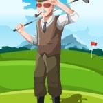 Senior golfer — Stock Vector #18997925