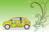 Green car — Stock Vector