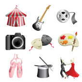 Arts entertainment icons — Stock Vector