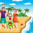 Family vacation — Stock Vector