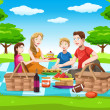 Royalty-Free Stock  : Happy family having a picnic