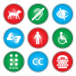Accessibility icons - Stockvectorbeeld