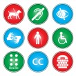 Accessibility icons - Stock vektor