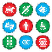 Accessibility icons — Stock Vector