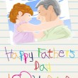 Royalty-Free Stock Vector Image: Fathers day card