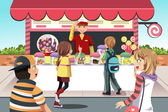 Kids buying candy — Stock Vector