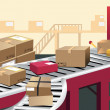 Warehouse — Stock Vector