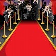 Red carpet and paparazzi background — Stock Vector