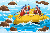 Rafting — Stock Vector
