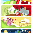 Royalty-Free Stock Vector Image: Amusement park banners