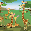 Family of Giraffes — Stock Vector #25101487