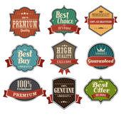Vintage label sets — Stock Vector