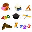 Back to school icons — Stock Vector