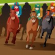 Horse racing — Stock Vector