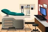 Läkare kontor — Stockvektor