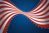American flag background — Stock Vector