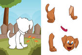 Puzzle animaux — Vecteur