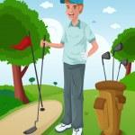 Man playing golf — Stock Vector #28160343