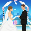 Vector de stock : Married young couple