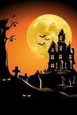 Halloween background for Halloween poster — Stock Vector