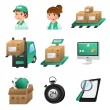 Logistic icons — Stock Vector #30918209
