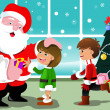Little kids with Santa Claus — Stock Vector #32434957