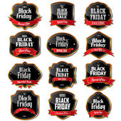 Black Friday sale labels — Stock Vector