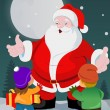 Little kids with Santa Claus — Stock Vector