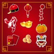 Stock Vector: Chinese New Year icons